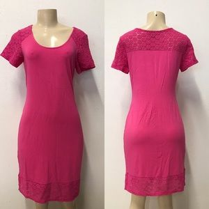 Tommy Bahama pink lace dress